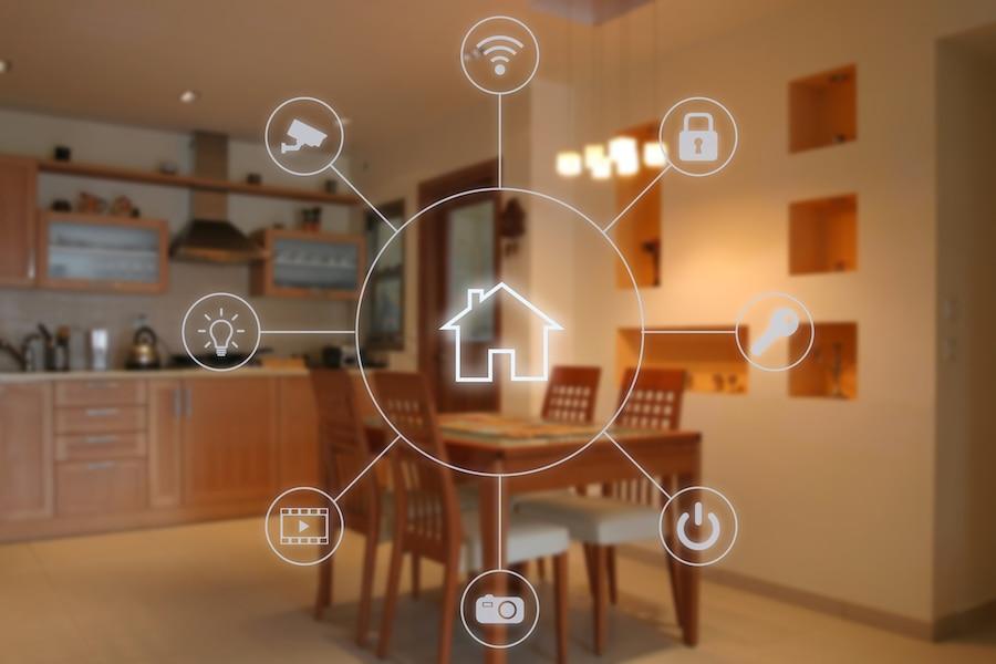 Smart home software application internet technology.