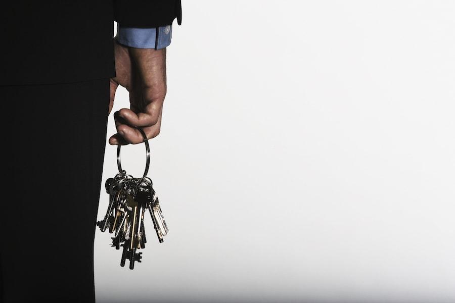 Business man carrying master keys in Grosse Pointe, MI.
