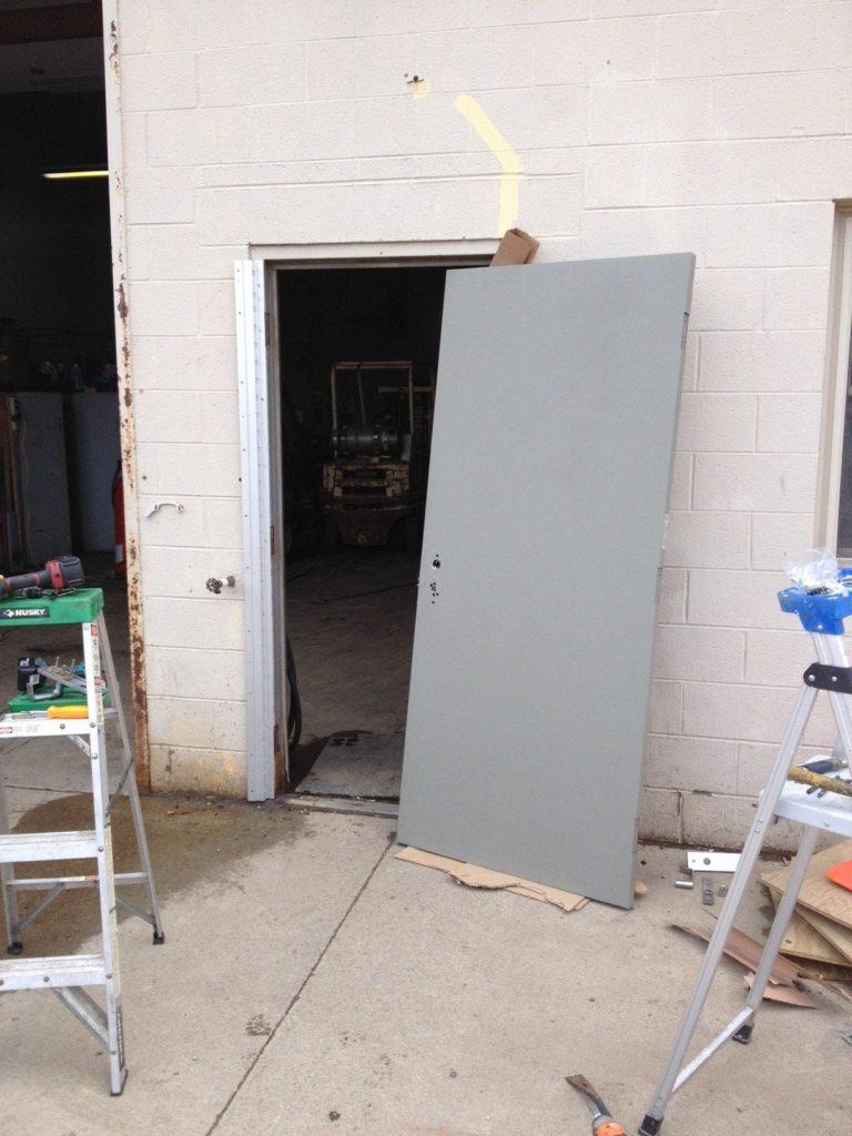 Door Before Replacement<br> Door before replacement