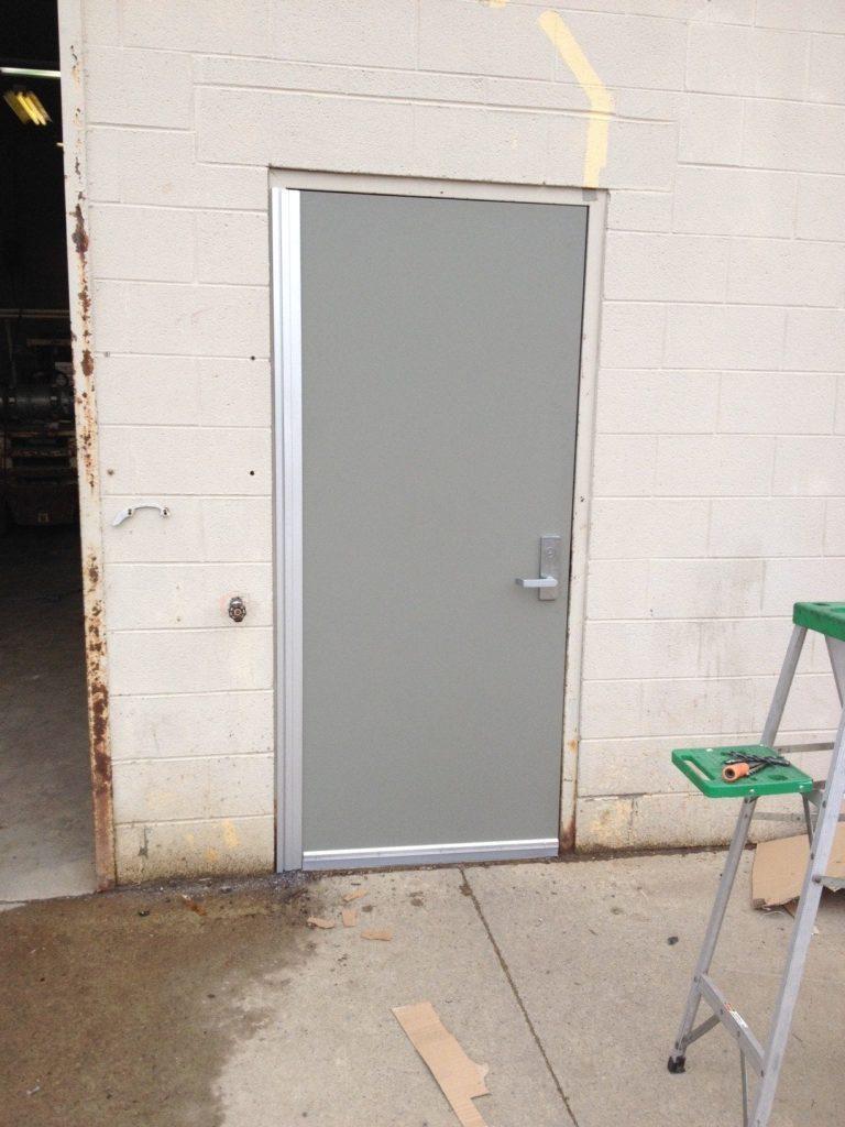 New Door<br> New Door on building